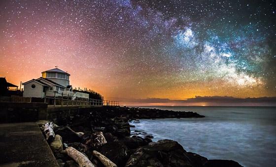 摄影师镜头下英怀特岛熠熠星空
