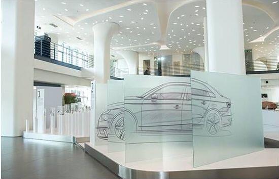 汽车展厅立面手绘图
