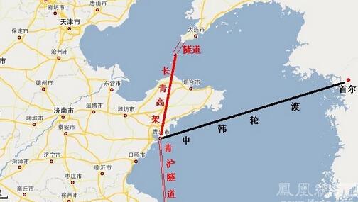 其中包括中韩黄海铁路轮渡项目
