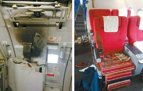 深航乘客机舱蓄意纵火被制服