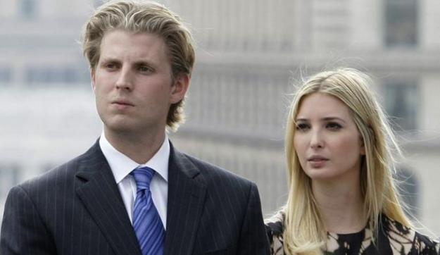 特朗普儿子艾瑞克和女儿伊万卡(AP资料图片)-特朗普之子 父亲受姐