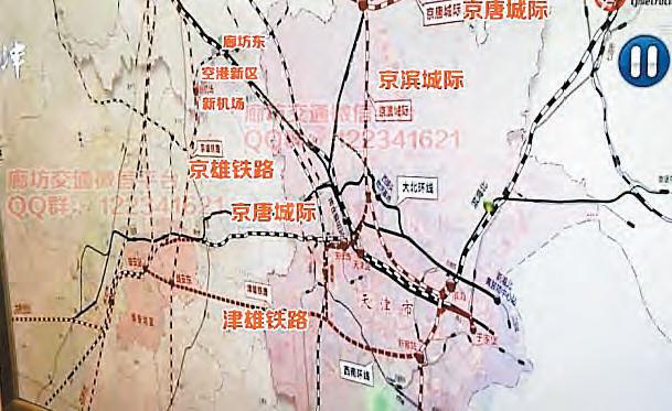 天津媒体日前曝光了雄安新区高铁最新线路图,经过雄安新区的铁路一共