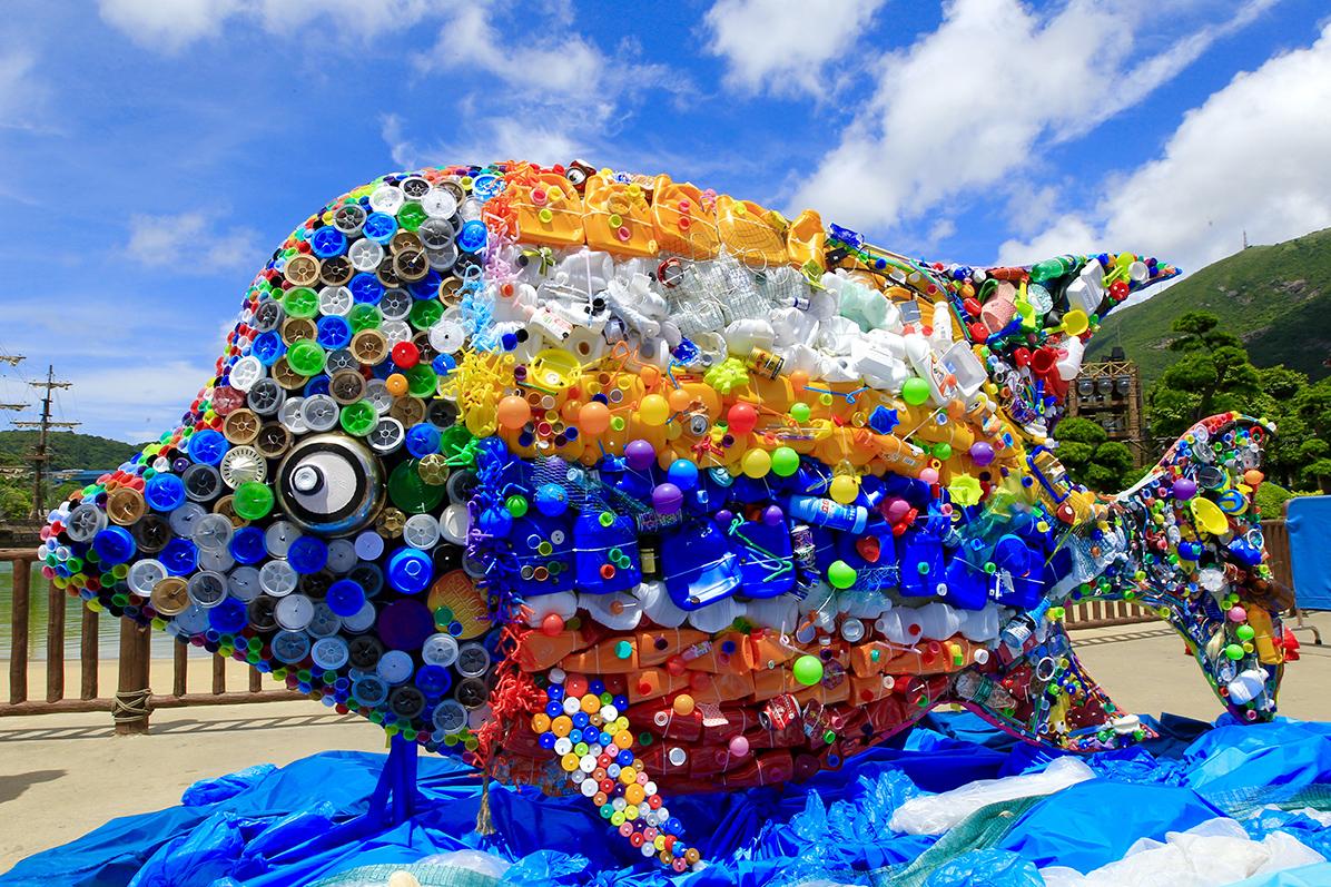 """珠海长隆海洋王国展出300多公斤 """"垃圾鱼"""""""