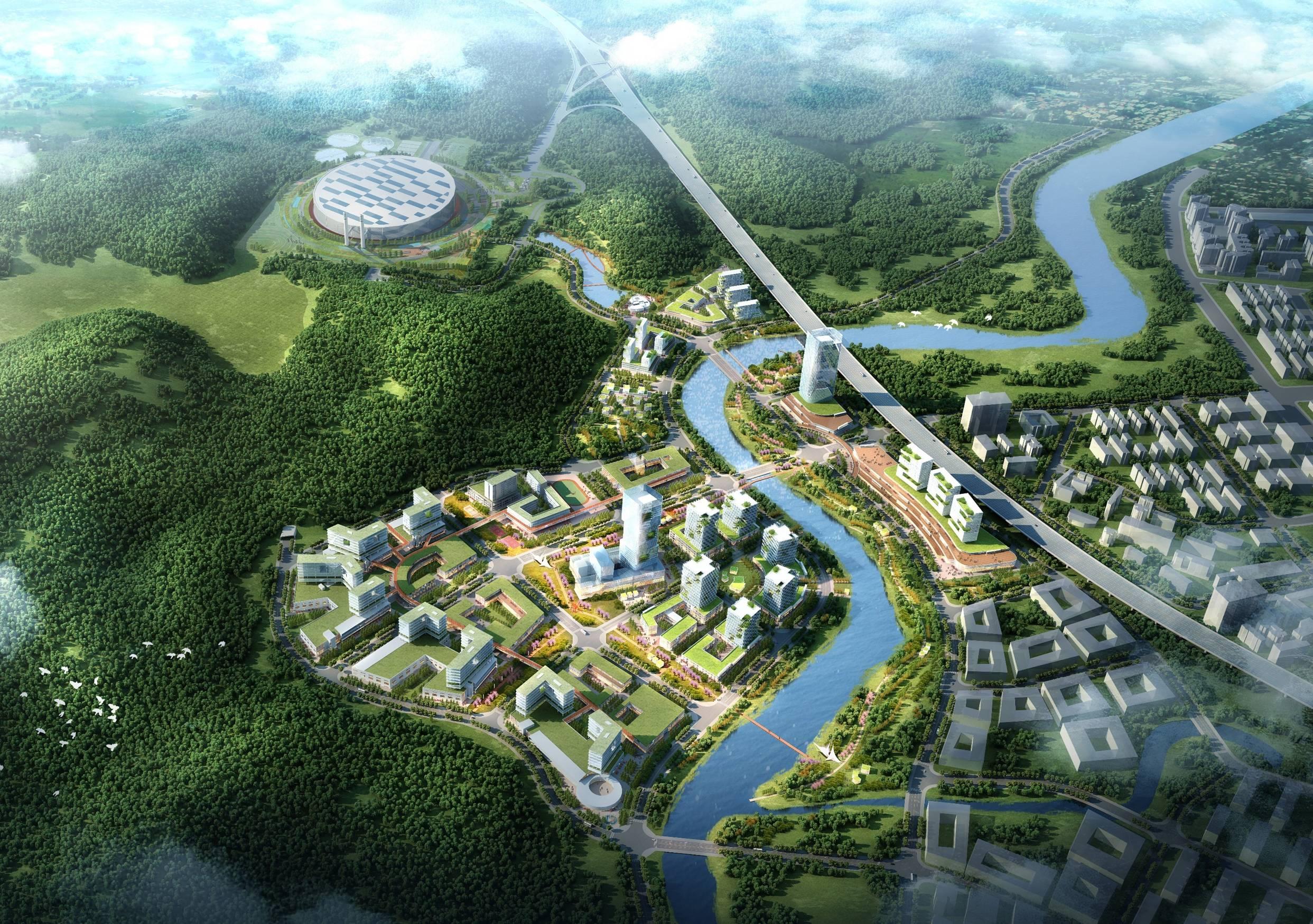 龙岗区节能环保产业园效果图图片