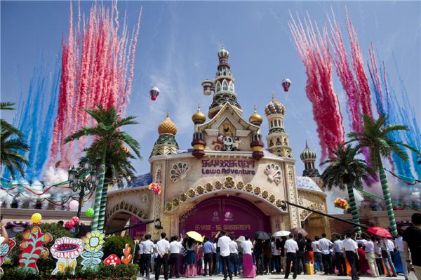 位于西咸新区泾河新城的乐华欢乐世界已经成为大西安市民旅游好去处.