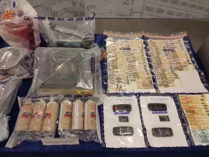 警破元朗製毒工場 檢值500萬元可卡因拘2人