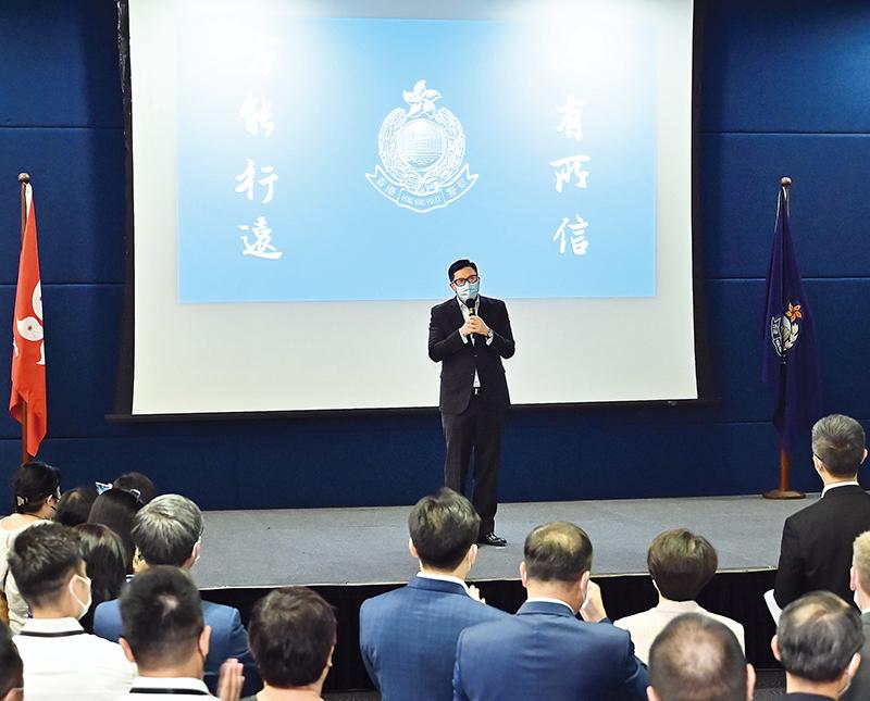 警聲:400余警隊同袍歡送鄧炳強上任保安局局長