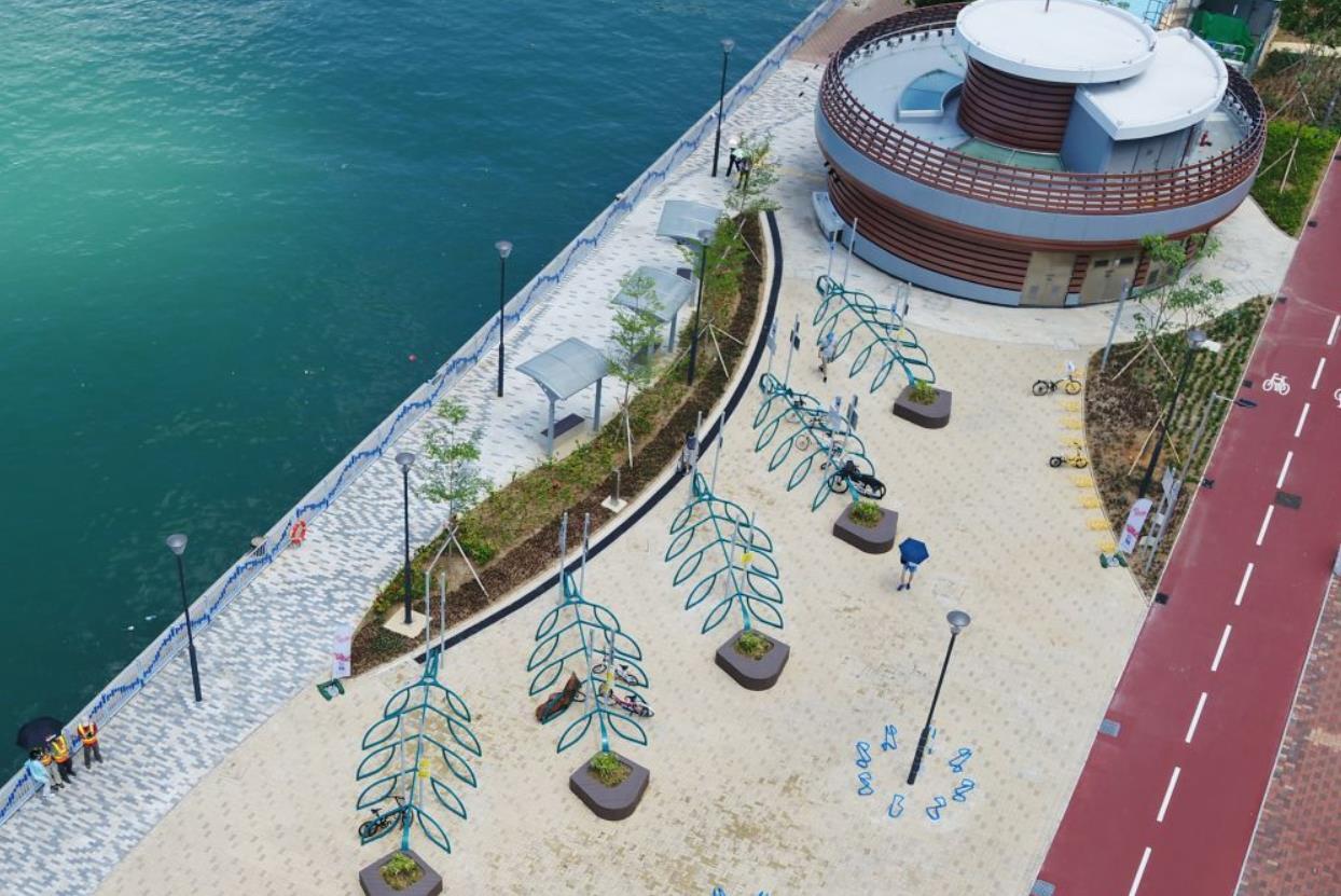 荃灣海濱段單車徑明起開放 全長2.3公里