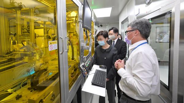 林鄭訪生物科技初創公司 15分鐘可測出特定病毒