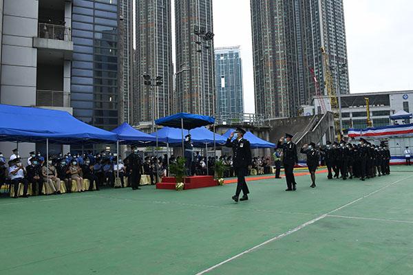 民安隊舉行第82屆新隊員結業會操